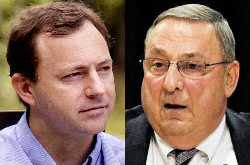 Former House Speaker Mark Eves and Gov. Paul LePage