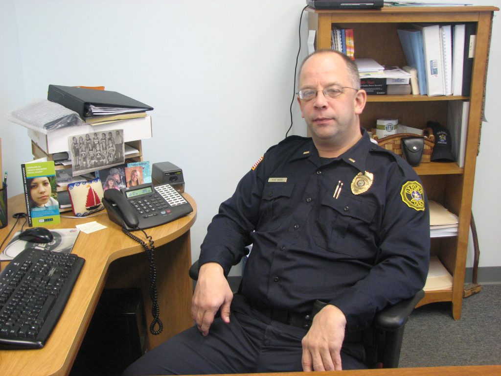Michael Ward has been named chief of the Oxford Police Department.   Mike Ward, a detective with the Oxford Police Department, has been promoted to a lieutenant.