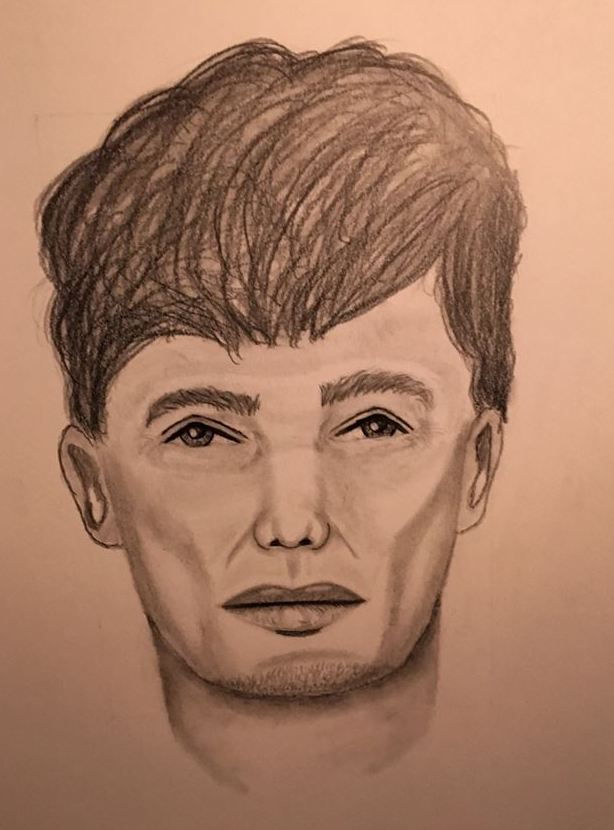 Topsham police have released this sketch of the suspect they believe robbed a tanning salon last week.
