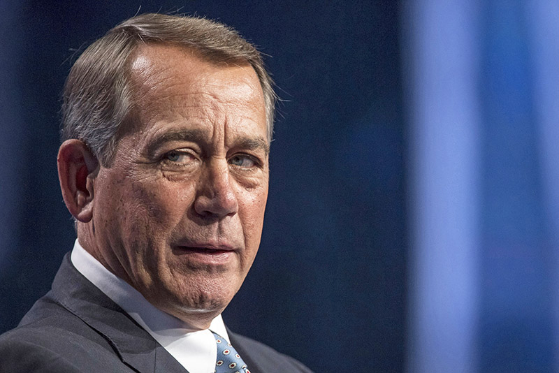 Former House Speaker John Boehner speaks at a conference in Las Vegas on May 12, 2016.