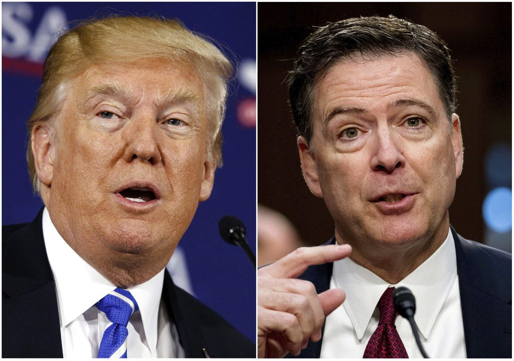 "President Trump has made repeated statements trying to undermine the credibility of former FBI Director James Comey. On Wednesday he said, ""The FBI is a fantastic institution, but some of the people at the top were rotten apples. James Comey was one of them."""