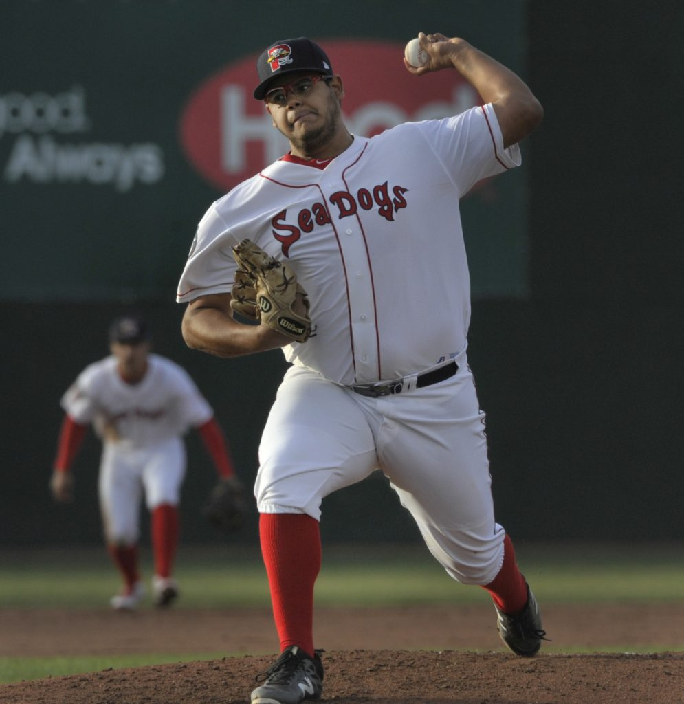 Sea Dog starting pitcher Dedgar Jimenez was a little rusty to start Tuesday's opener at Hadlock Field, but then settled down.