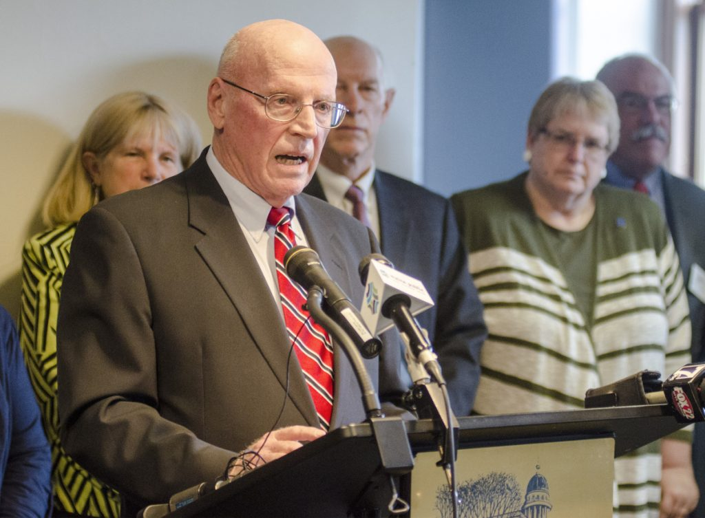 "Daniel Wathen, former chief justice of the Maine Supreme Judicial Court, said Wednesday that the elderly home care referendum question is ""deeply unconstitutional in many respects."""