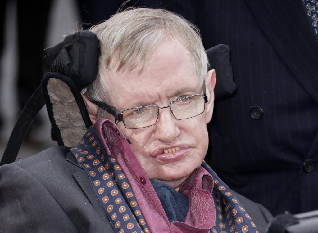 The final paper of Professor Stephen Hawking, shown in 2015, has been published in a journal, the University of Cambridge, where Hawking worked, said Wednesday. The theory was submitted for publication before his death in March at age 76.