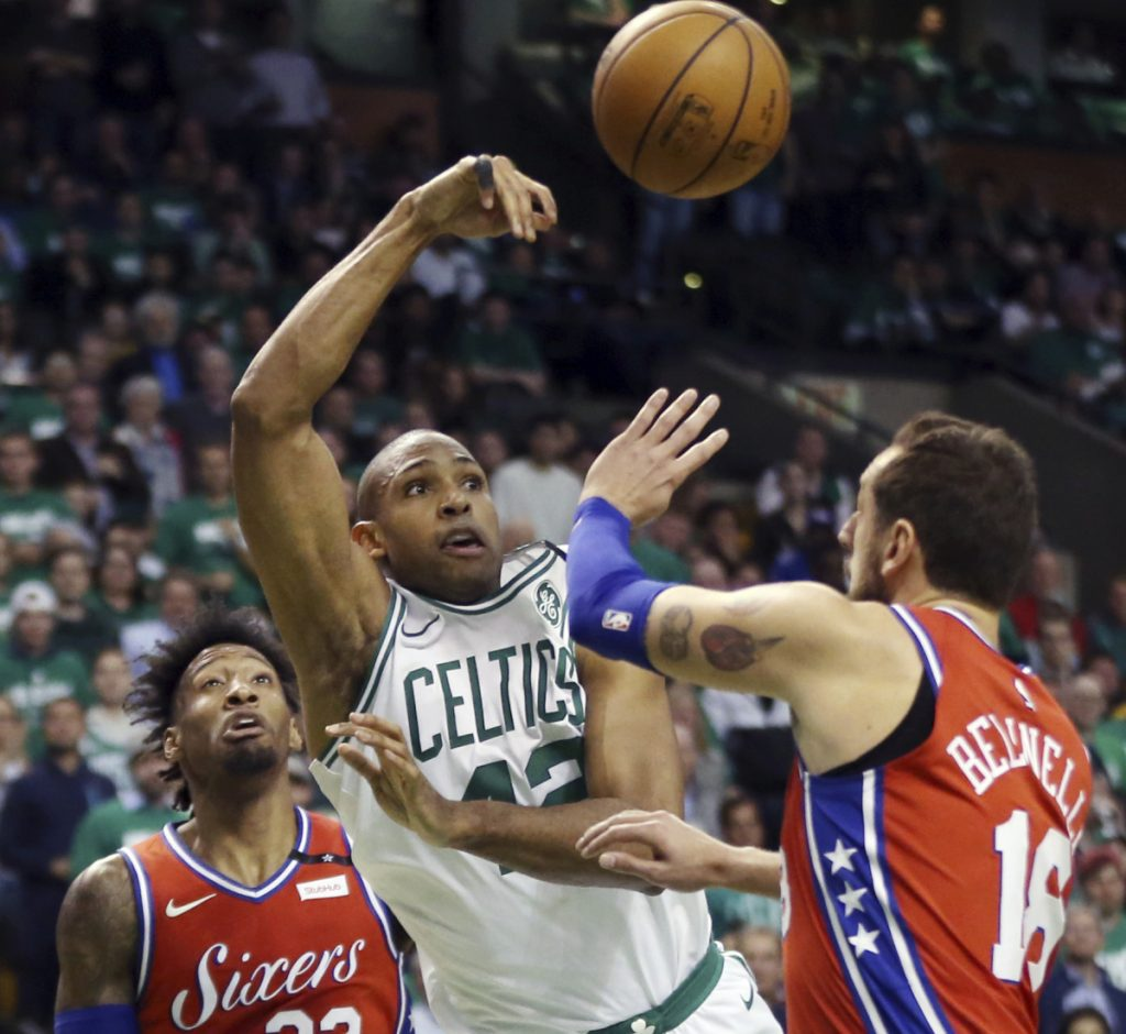 It didn't seem to matter who defended Al Horford in Game 1 of the Eastern Conference semifinals Monday against the 76ers, as he scored 26 points in Boston's 117-101 win.