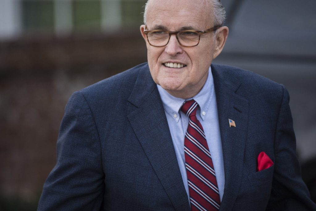 Rudy Giuliani, shown in 2016, caused a stir this week with statements about President Trump making payments to a porn star.