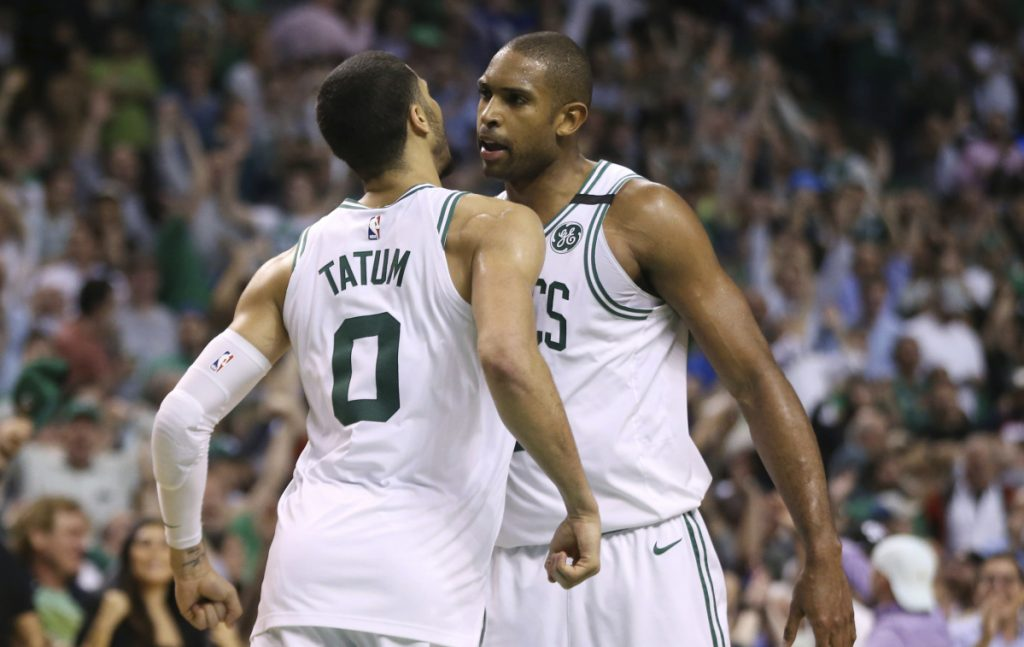 Jayson Tatum and Al Horford continued to play championship-level basketball Thursday night for the Boston Celtics, but the Philadelphia 76ers won't go away easily at home Saturday. Not at all.