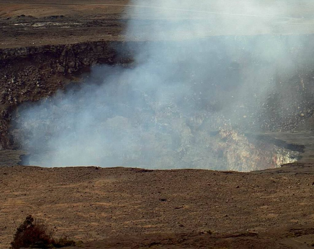 The Kilauea volcano erupts on the Big Island of Hawaii. Lava spewing from openings in the ground has destroyed 26 homes and forced 1,700 people to evacuate. U.S. Geological Survey via AP