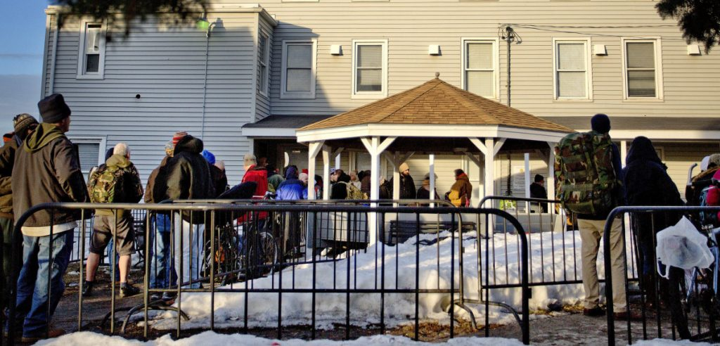 For 30 years, the Oxford Street Shelter, above, was funded in partnership with the state, but under Gov. LePage, that changed, and Portland taxpayers were forced to shoulder more of the operating costs.