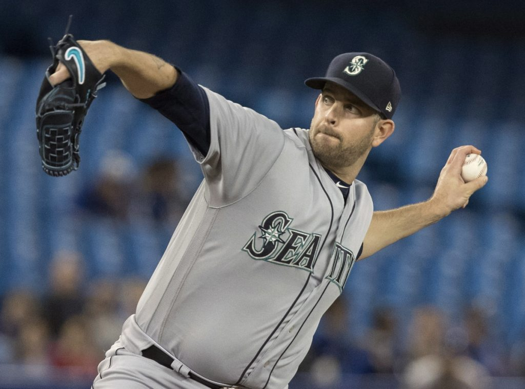 Seattle starting pitcher James Paxton threw a no-hitter against Toronto on Tuesday night.
