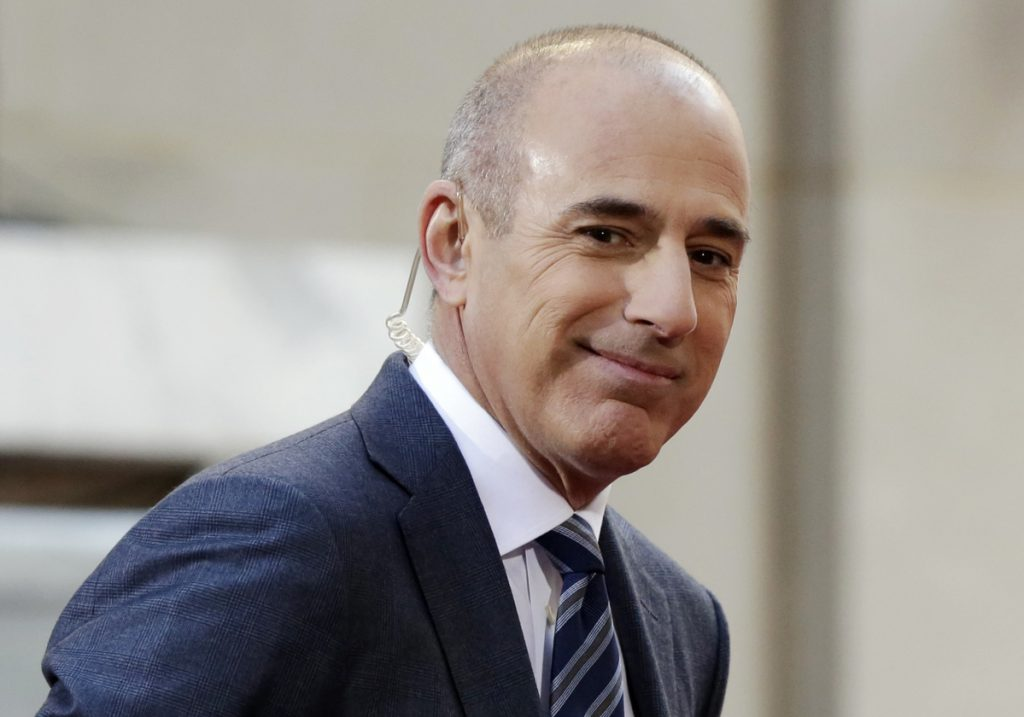 """Matt Lauer, seen in 2016, when he was co-host of the NBC """"Today"""" program, was fired in November. NBC concludes in an internal investigation ordered after Lauer's firing that it does not believe there is a culture of sexual harassment in its news division."""