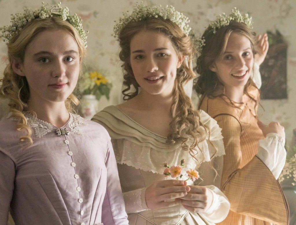 "Kathryn Newton, from left, Willa Fitzgerald and Maya Hawke star in ""Little Women,"" airing on PBS on Sundays, May 13 and 20."