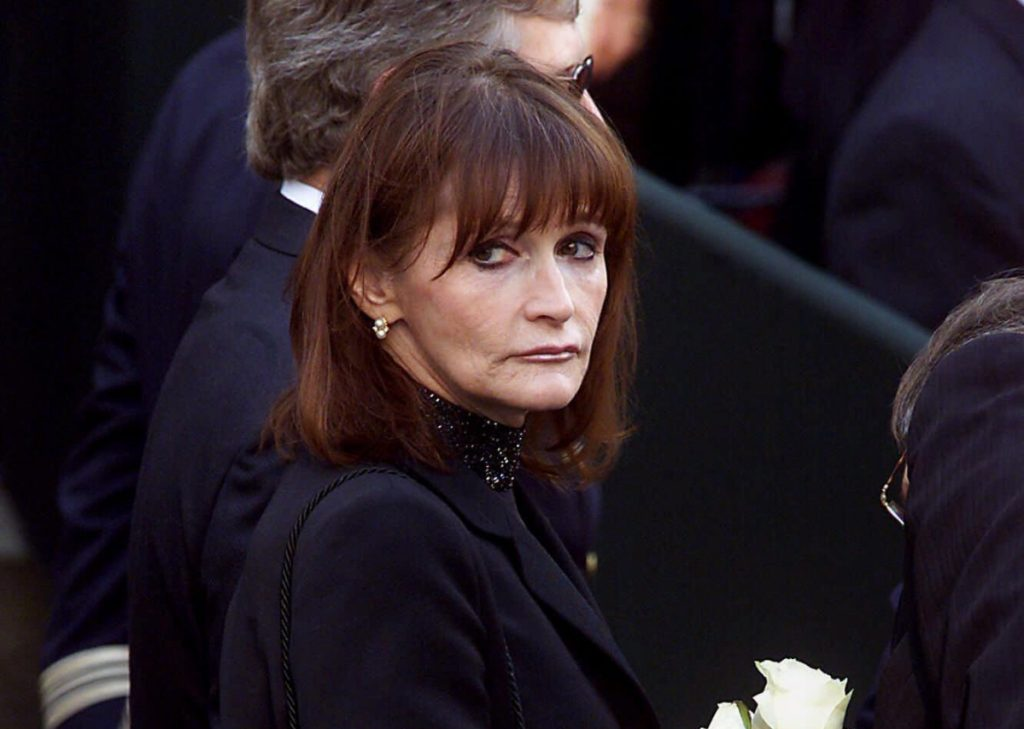 Actress Margot Kidder who dated former Prime Minister Pierre Trudeau arrives for his funeral at Notre Dame Basilica in Montreal Quebec in 2000. Kidder who starred as Lois Lane in the