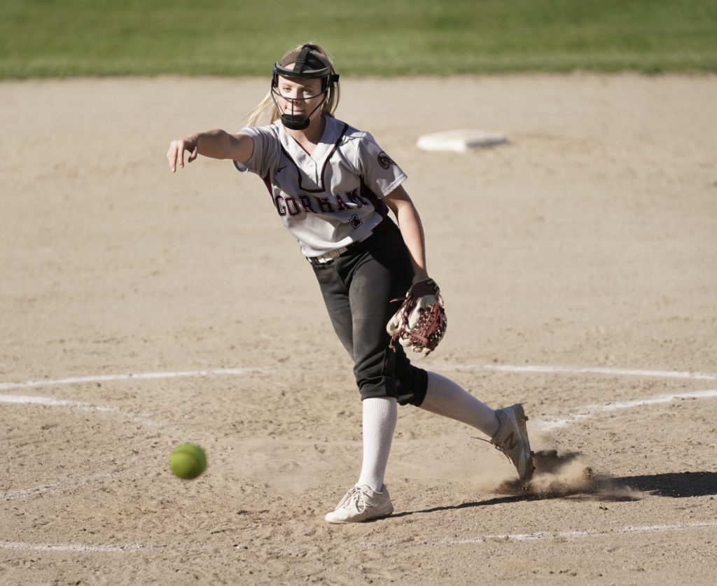 Grace McGouldrick, who will play for the University of Maine, struck out 11 and walked two Monday in a no-hitter as Gorham defeated Cheverus/North Yarmouth Academy, 13-0.