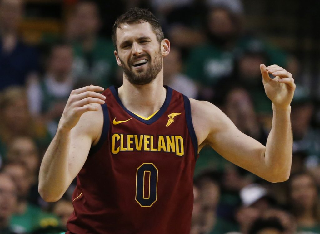 Cleveland's Kevin Love scored 22 points in a 107-94 loss in Game 2 to the Celtics. Love and LeBron James combined for 64 of the Cavs' 94 points.