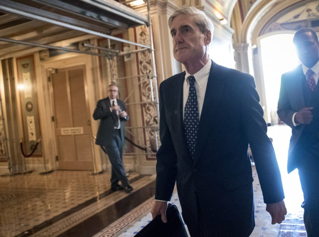 Special Counsel Robert Mueller departs after a closed-door meeting with members of the Senate Judiciary Committee on June 21, 2017.