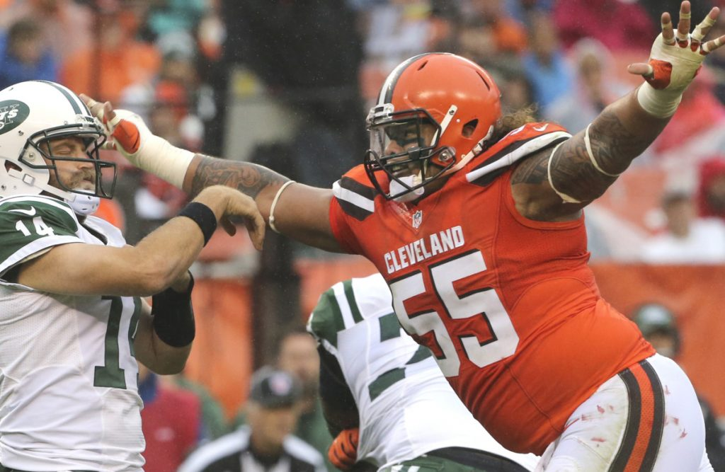 Danny Shelton made his mark in Cleveland – and also on the helmet of Jets QB Ryan Fitzpatrick in 2016 – and now is a member of the Patriots. His world has changed but he's a fan of Vince Wilfork and willing to work. That's a good start.