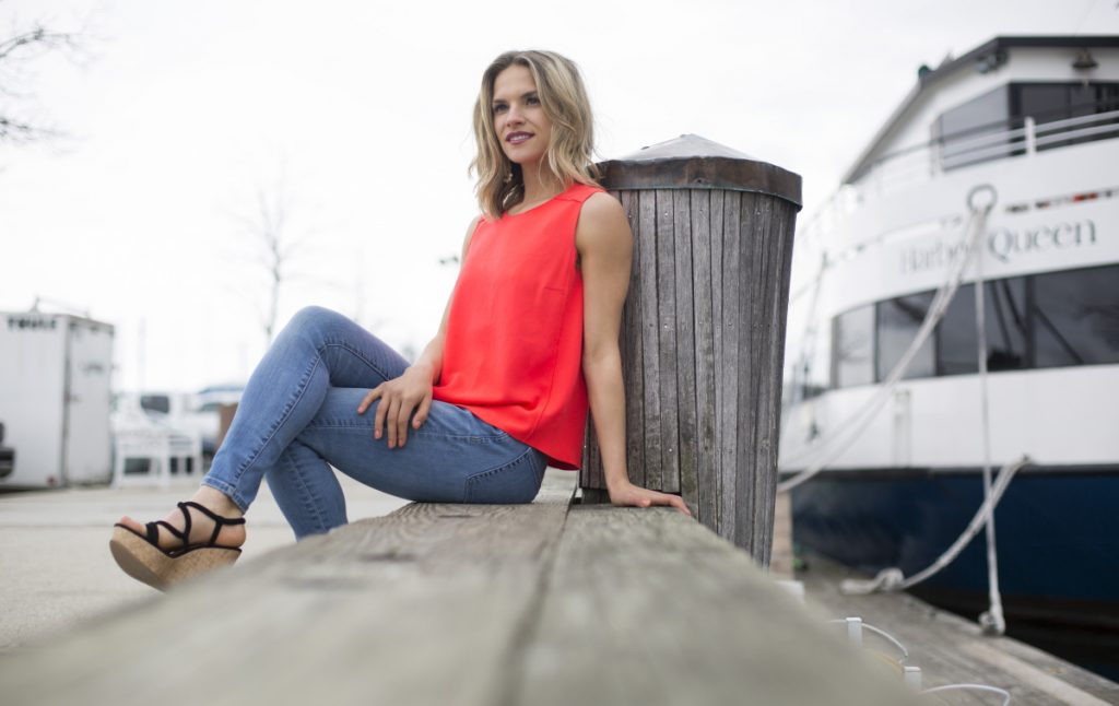"""Marina Gray of Portland, the reigning Miss Maine USA, says, """"I think all the challenges and adversities I've faced were handed to me because I was strong enough to overcome them."""" Gray said she looks at competing in the Miss USA pageant as both a goal and part of her long-range plan for her future."""