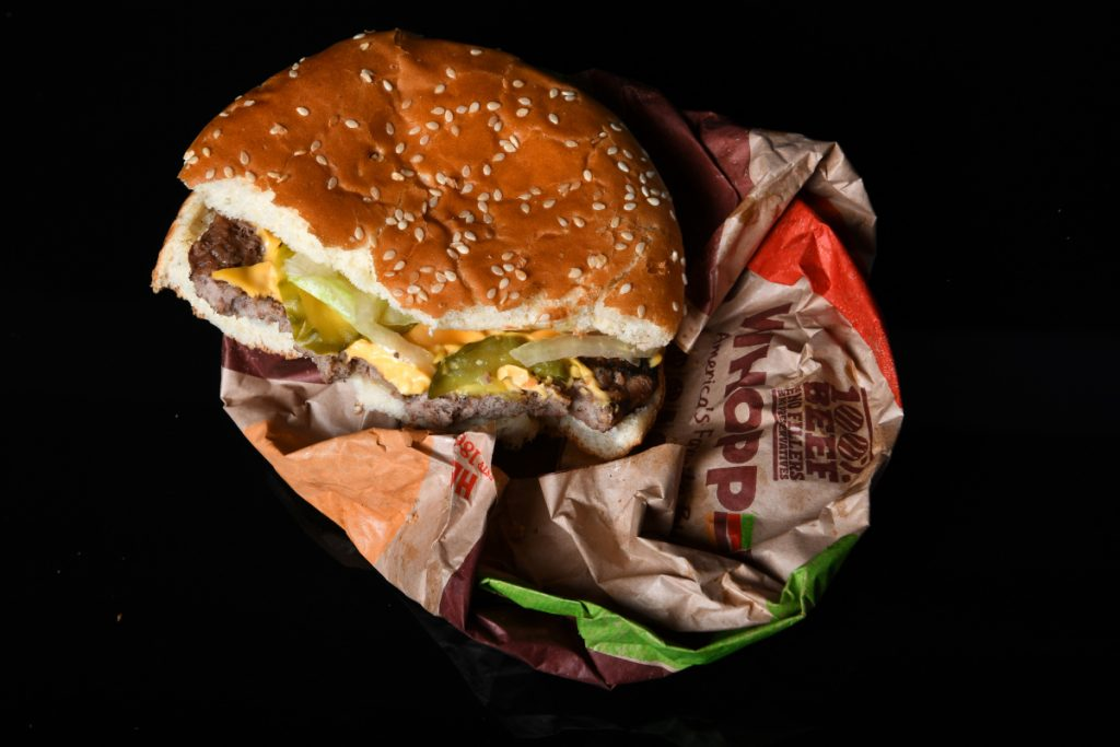 A Whopper from Burger King.