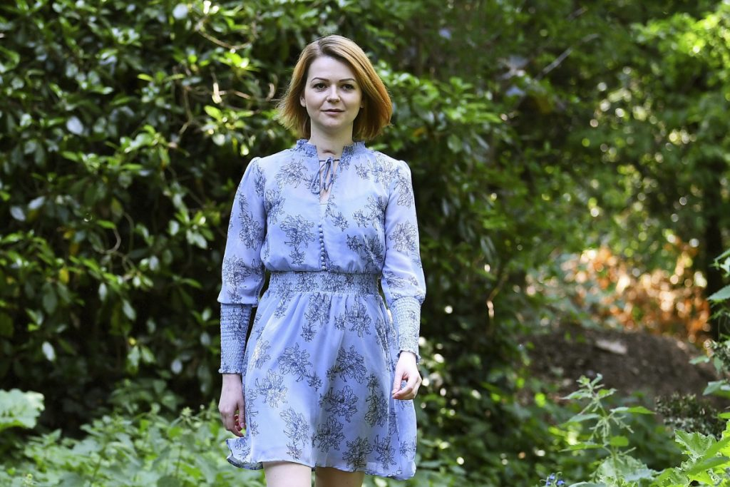 Yulia Skripal during an interview in London on Wednesday.