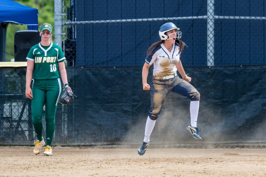 Maggie Murphy, a left fielder, was a second-team all-Northeast-10 Conference selection this year of St. Anselm, which begins play in the NCAA Division II national tournament on Thursday.