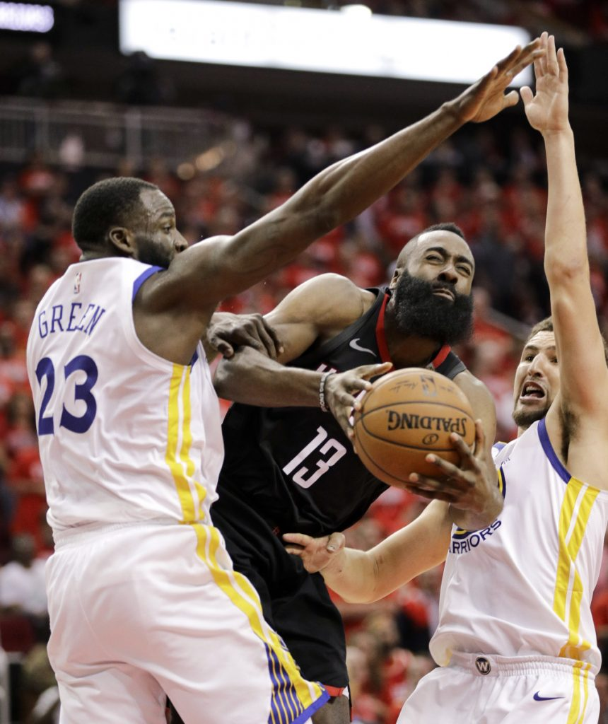 Rockets a win away from National Basketball Association finals as Warriors edged in Houston