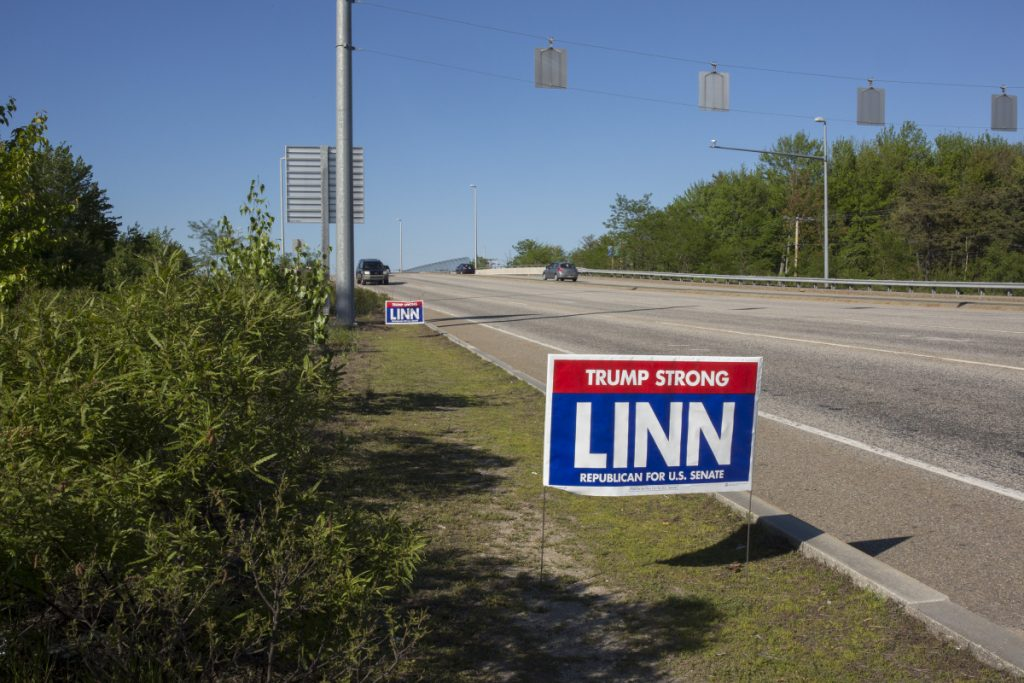 Maine Auto Mall >> He's disqualified as a U.S. Senate candidate, but Max Linn is still posting campaign signs ...