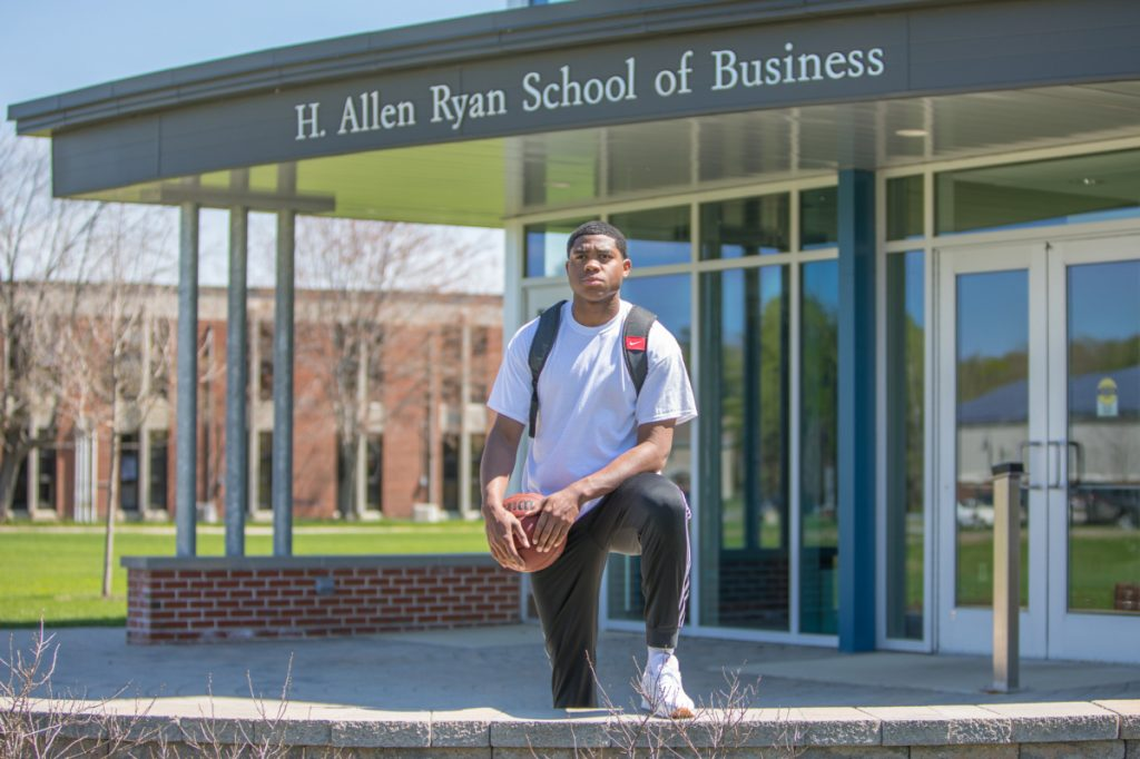 Carlos Gonzalez is looking forward to his bright future as he is set to graduate with a business management degree from Thomas College on Saturday.