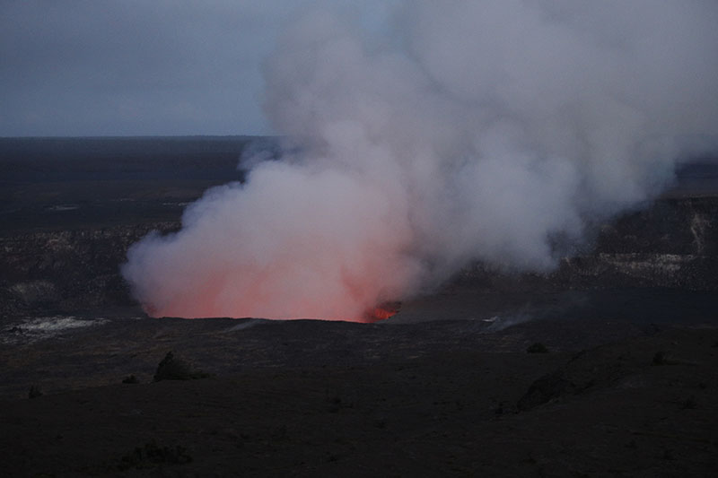 Steam and gas rise from Kilauea's summit crater in Volcanoes National Park, on Wednesday.