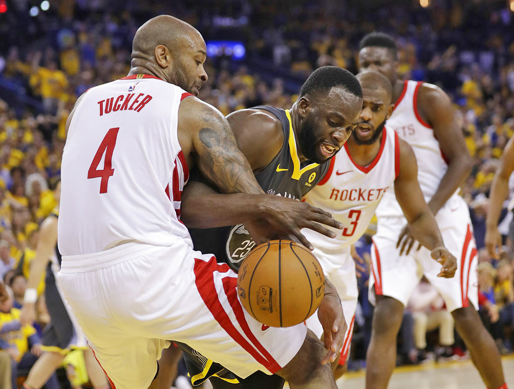 Rockets edge Warriors to level National Basketball Association playoff series