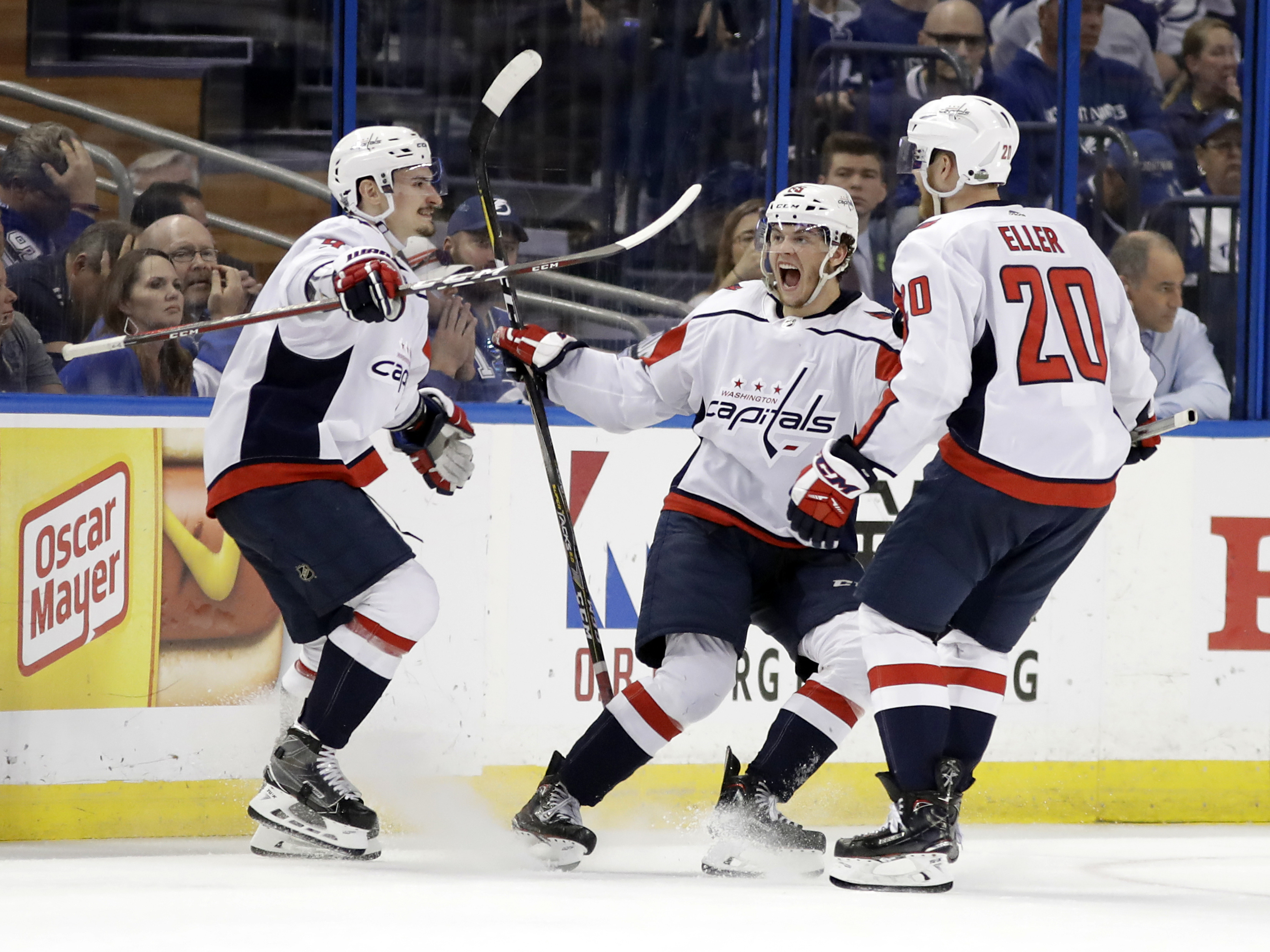 bb0382aae Alex Ovechkin scored early and Andre Burakovsky added two second-period  goals to help the Washington Capitals put a decade of playoff frustration  behind ...