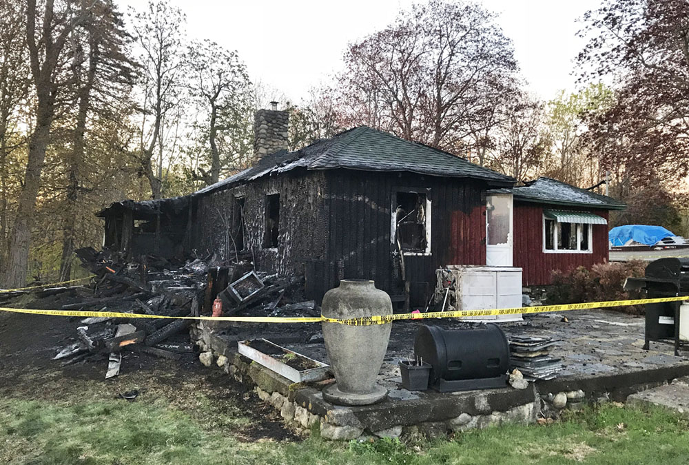 On Monday, the State Fire Marshals Office is expected to investigate the scene of the fire that destroyed this home at 1834 Riverside Drive in Vassalboro.