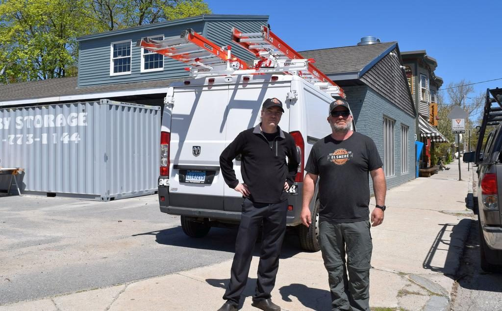 Adam Powers and Jeremy Rush hope to open Elsmere BBQ and Wood Grill later this monthat 476 Stevens Ave. in Portland's Deering Center neighborhood. They said a walkable neighborhood location was a big priority for expansion of their South Portland business.