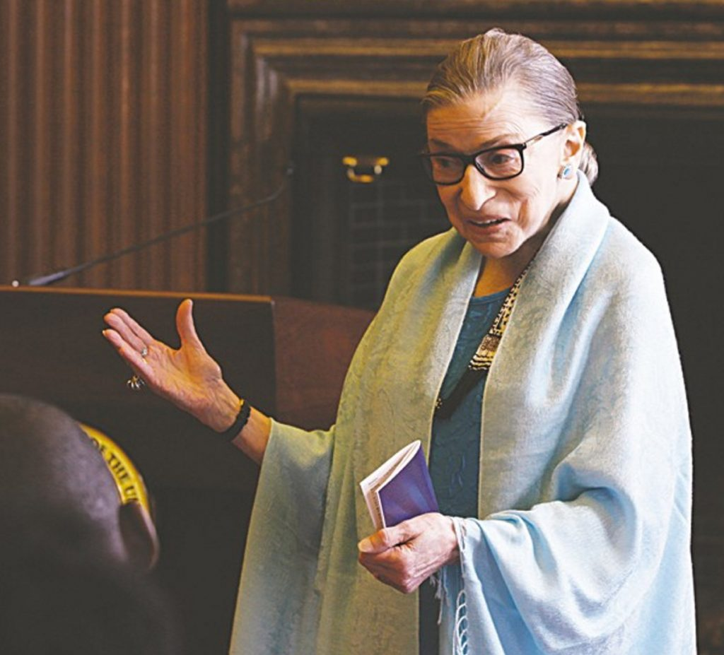 "Supreme Court Justice Ruth Bader Ginsburg is the subject of the recently released ""RBG."""