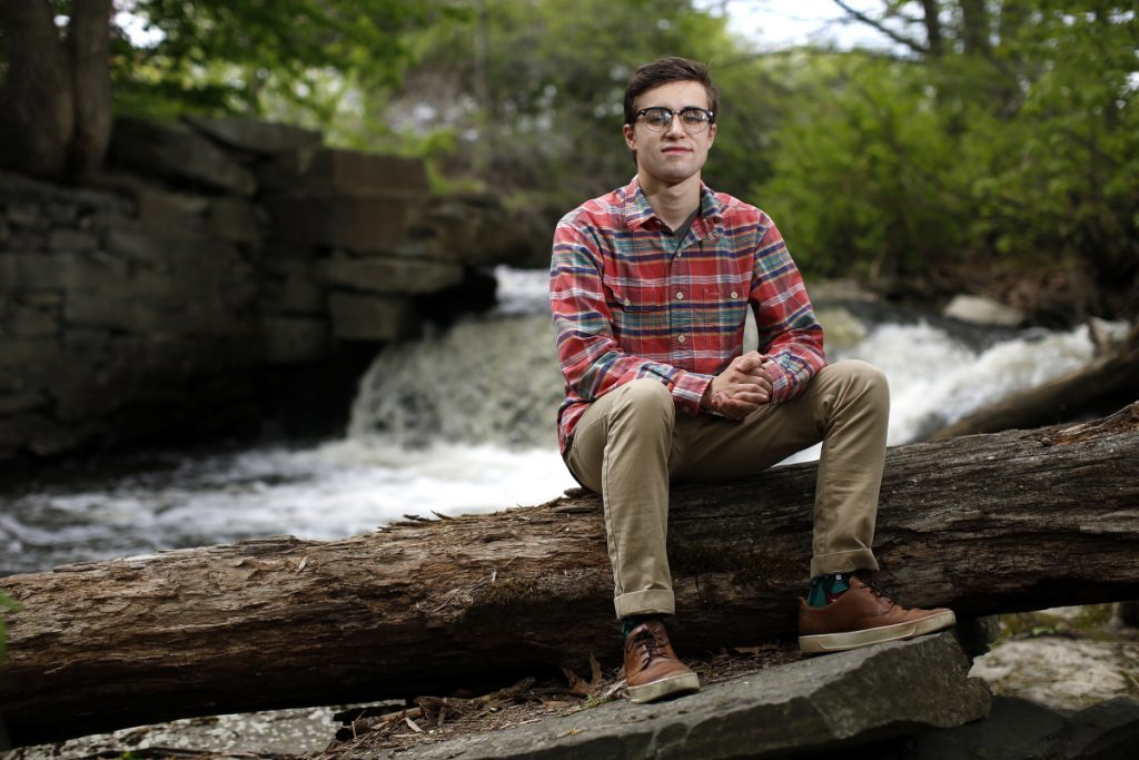 Sammy Potter is a top student at Yarmouth High School, a community organizer and campaign worker who sees opportunity for change and progress despite the current tone of much political discourse.