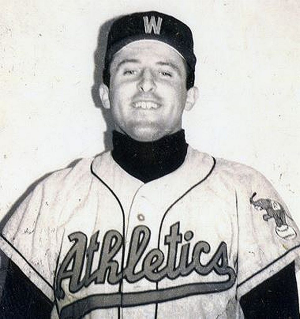 Richard Pohle poses during a tryout with the Kansas City Athletics that didn't lead to a professional baseball contract. (Photo from an archived website for Pohle's baseball training school)