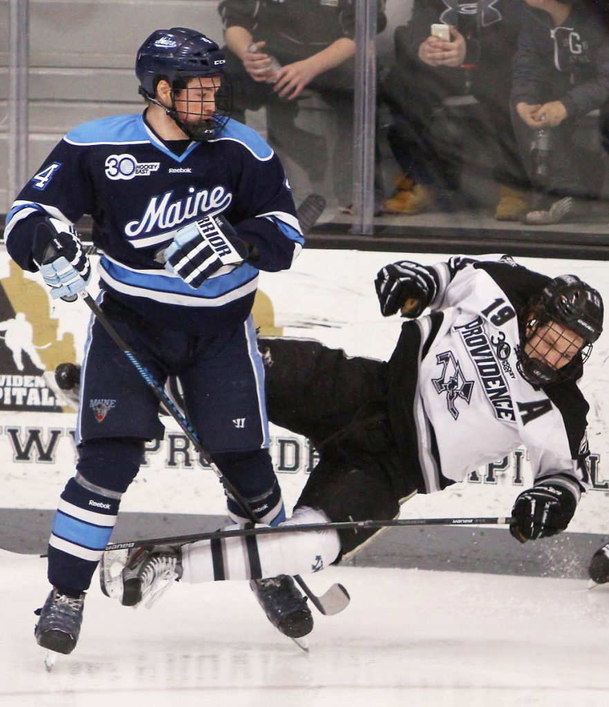 Jake Rutt, who will take over the Cape Elizabeth High boys' hockey program, was a defenseman who played in 120 games over four seasons for UMaine.