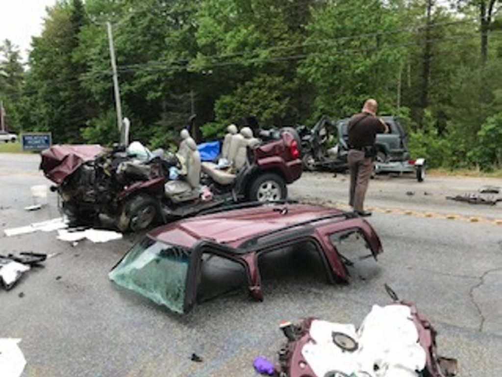 Fatal crash scene. Photo courtesy of Cumberland County Sheriff's Office