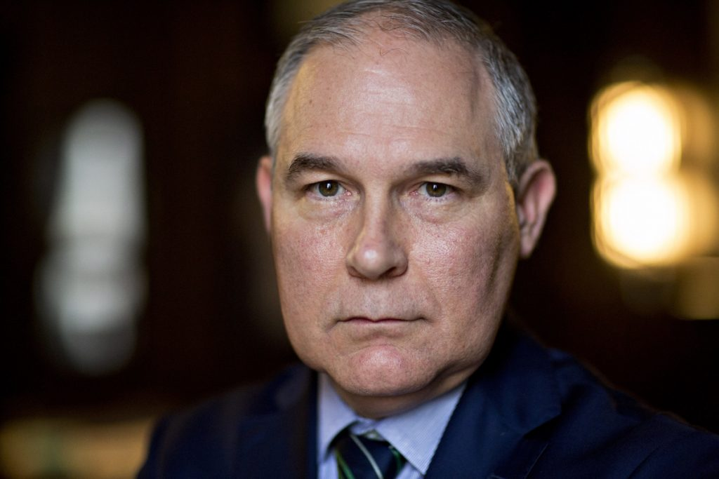 Federal ethics laws bar public officials such as Environmental Protection Agency administrator Scott Pruitt from using their position or staff for private gain.