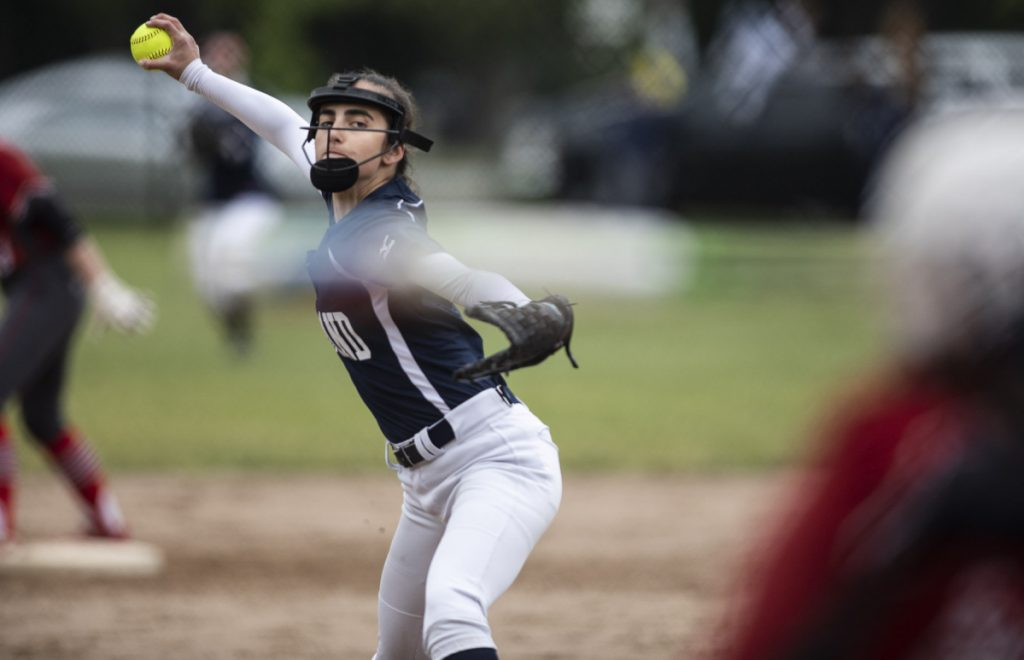 Portland pitcher Jess Brown pitched a shutout on Tuesday, beating South Portland 2-0 in a Class A South prelim. Brown, who pitched out of a couple of jams, allowed four hits and struck out 11.