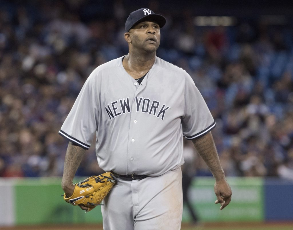 New York Yankees starter CC Sabathia went seven innings and got the win Tuesday at Toronto.