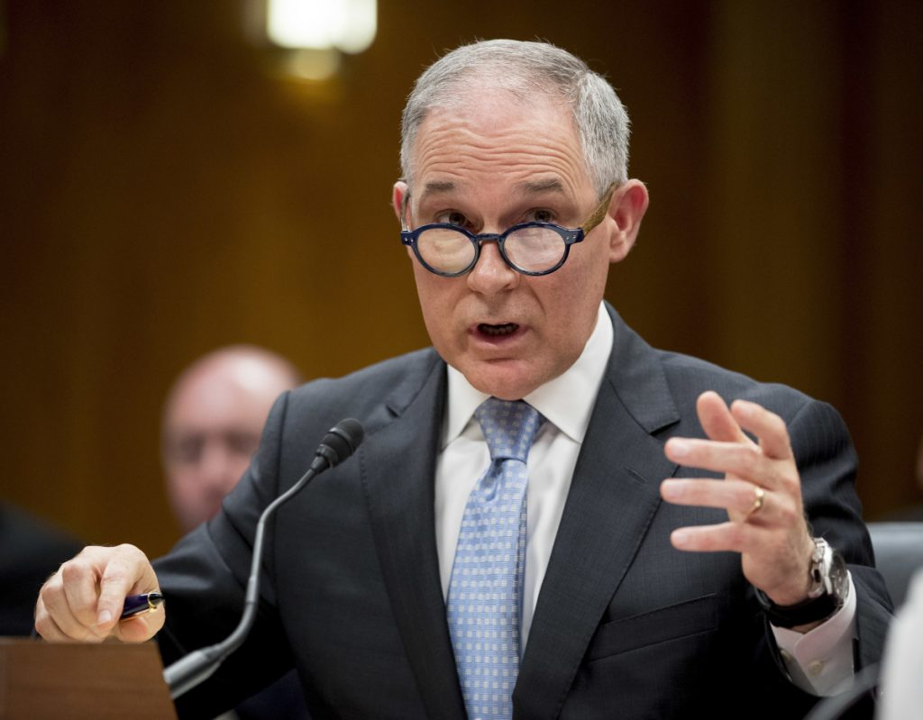 "EPA chief Scott Pruitt told a reporter Wednesday that he and his wife ""lovde Chick-fil-A as a franchise of faith."""