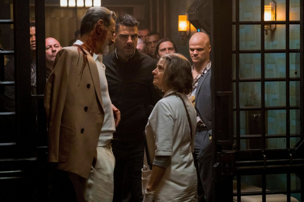 "Jodie Foster stars as The Nurse in ""Hotel Artemis."""
