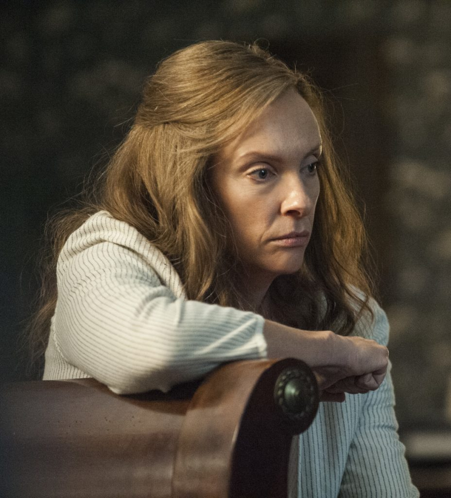 "Toni Collette is shown in a scene from ""Hereditary."""