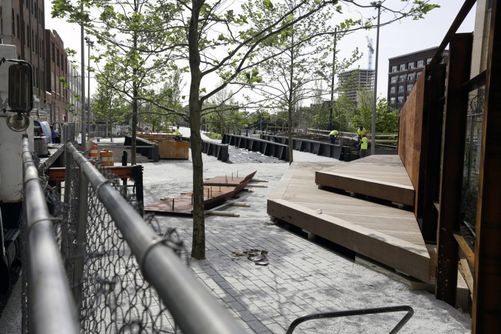 The first phase of Rail Park in Philadelphia is only a quarter-mile long but supporters hope it will eventually span 3 miles. The end result would be about twice the length and width of New York's High Line.