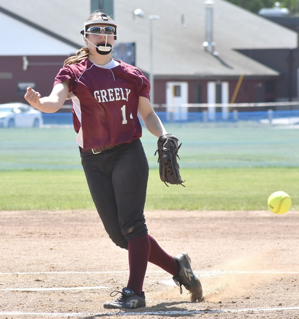 Greely pitcher Kelsey Currier held Gray-New Gloucester to two hits Saturday, helping the Rangers advance to the Class B South final with a 1-0 victory.