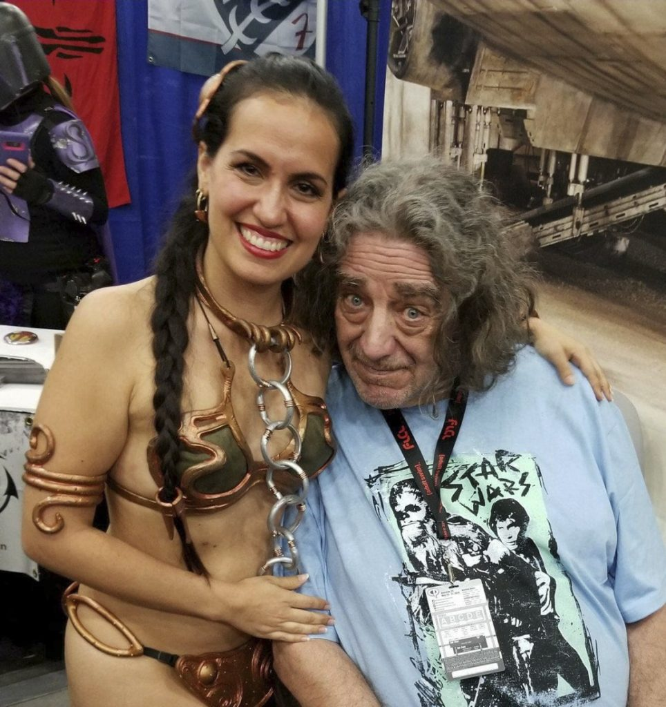 Actress Elisa Arguello and retired actor Peter Mayhew launched the Chewbacca fundraising effort in Texas.