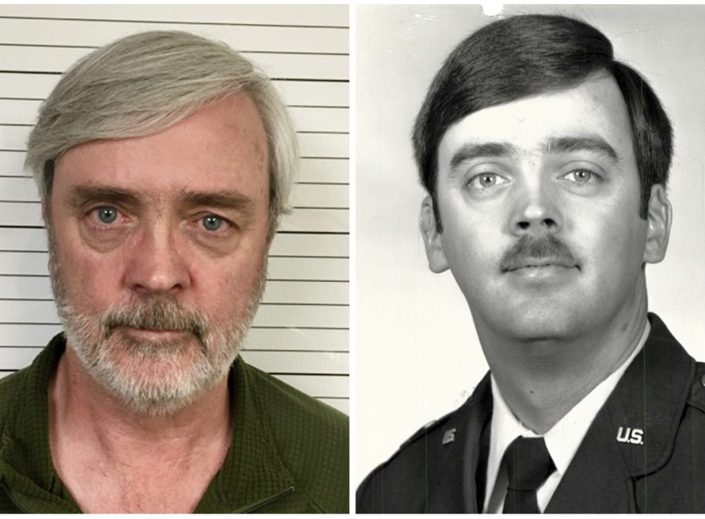 Combination of photos shows William Howard Hughes Jr., left, and one from his time in the U.S. Air Force.