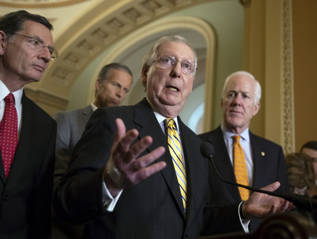 Senate Majority Leader Mitch McConnell, R-Ky., on Tuesday surpassed former Sen. Bob Dole of Kansas as the longest-serving Republican leader in the Senate's history.
