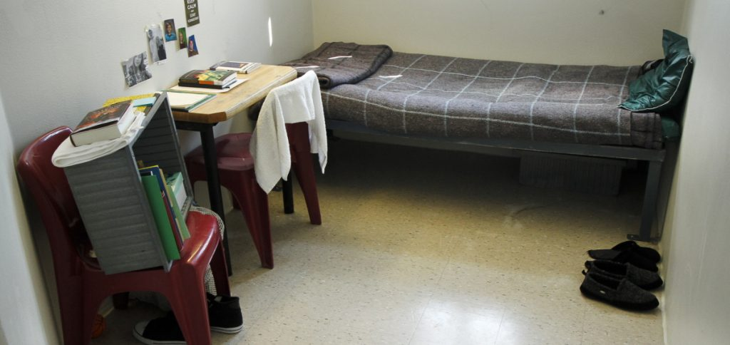 A cell in the Long Creek Youth Development Center in South Portland.